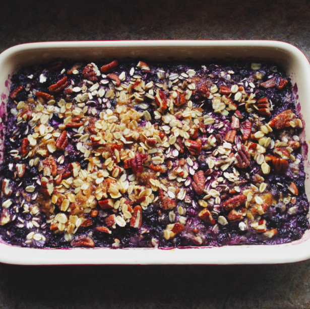 Granola-cereal-urban hippie-wild blueberry and toasted pecan oatmeal-recipe