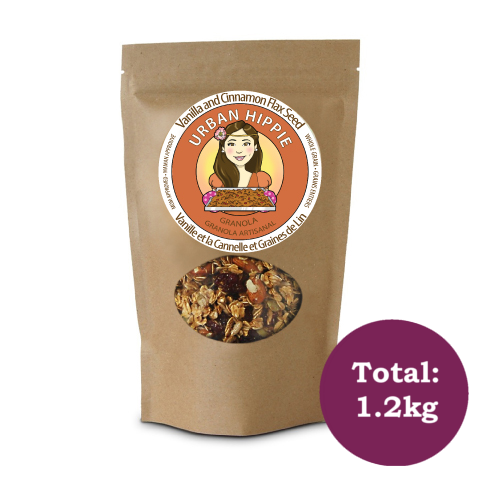 Granola-cereal-urban hippie-Vanilla And Cinnamon Flax Seed