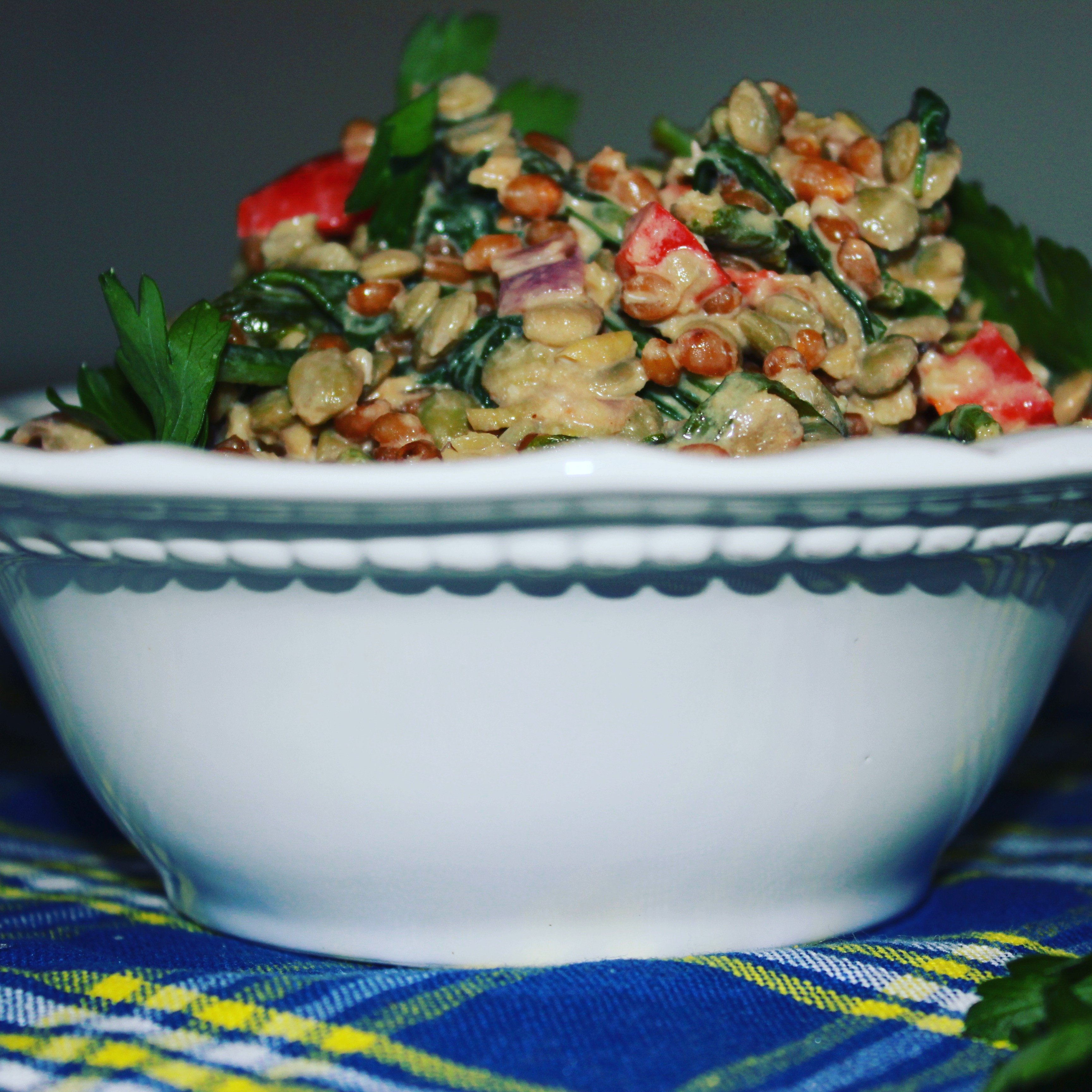 Wheat Berry Salad in a bowl
