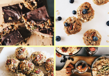 breakfast prep healthy snacks chocolate blueberry fruit granola oats natural whole grains fiber